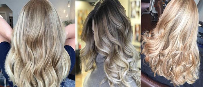 блондинистые волосы