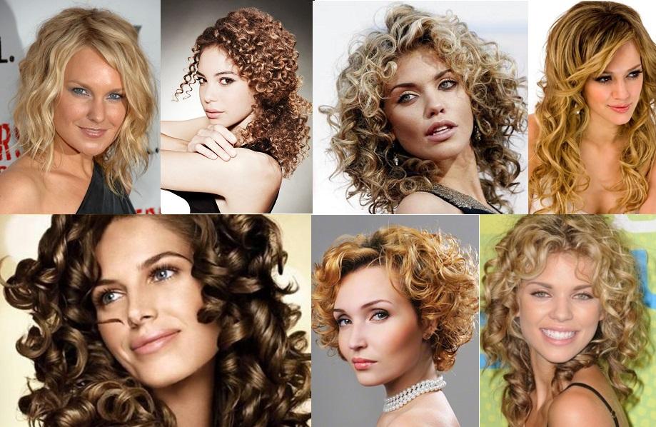 варианты стрижек кудрявых волос