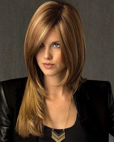двух слойные стрижки на волосы средней длины